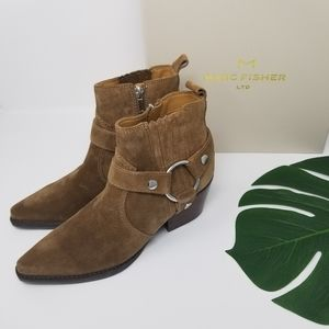 NIB Marc Fisher | Halie Brown Suede Boots | 7